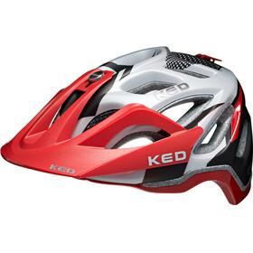 KED Trailon - Casque de vélo - rouge/blanc